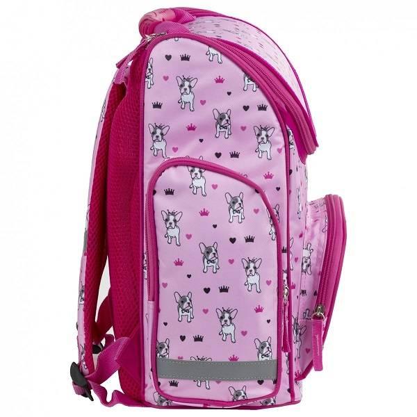 7b34127f12d5 BackUp Kutyás ergonomikus iskolatáska merev falú Pink Buldog ...